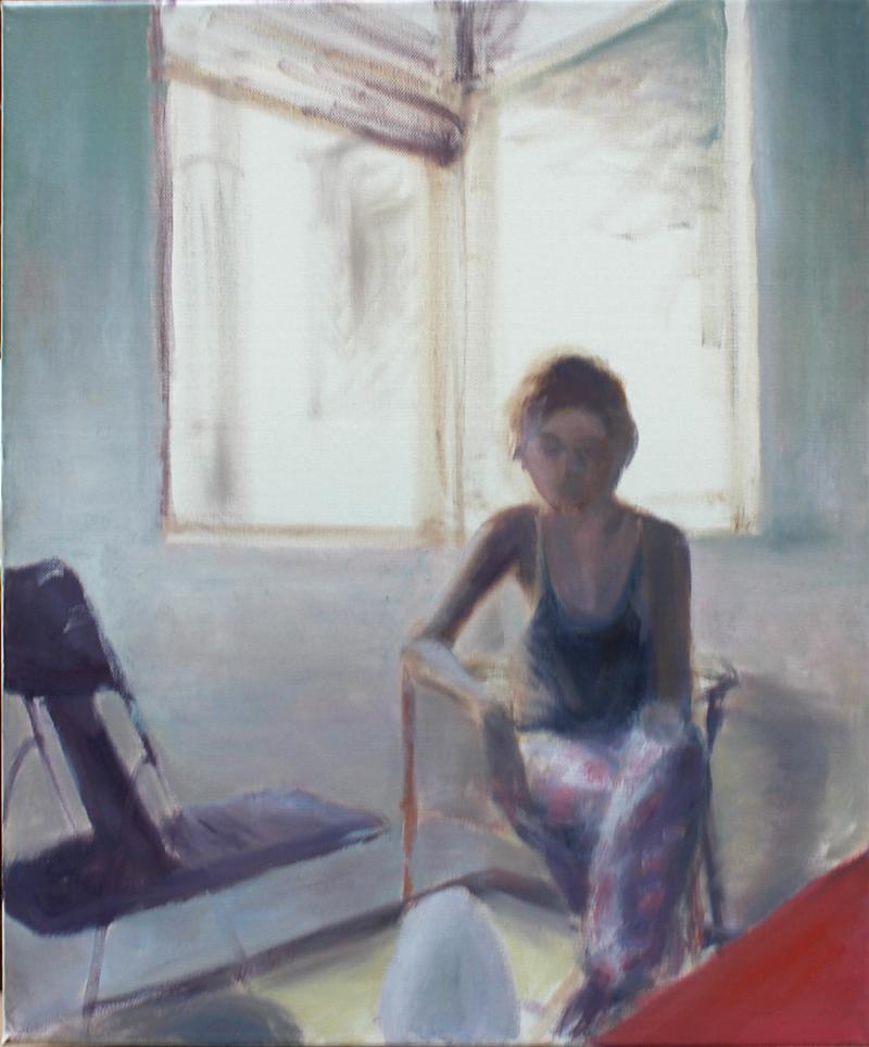 """Carma, BCN"" 55 x 48 cm, Öl auf Leinwand, 2012 Felix Rieger"