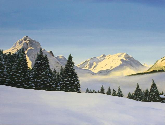 """Omesberg I"" 60 x 80 cm, Acryl auf Leinwand, Felix Rieger 2017"