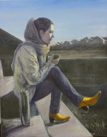 """Sarah in Grenoble"" 90 x 70 cm, Öl auf Leinwand, Felix Rieger 2014"