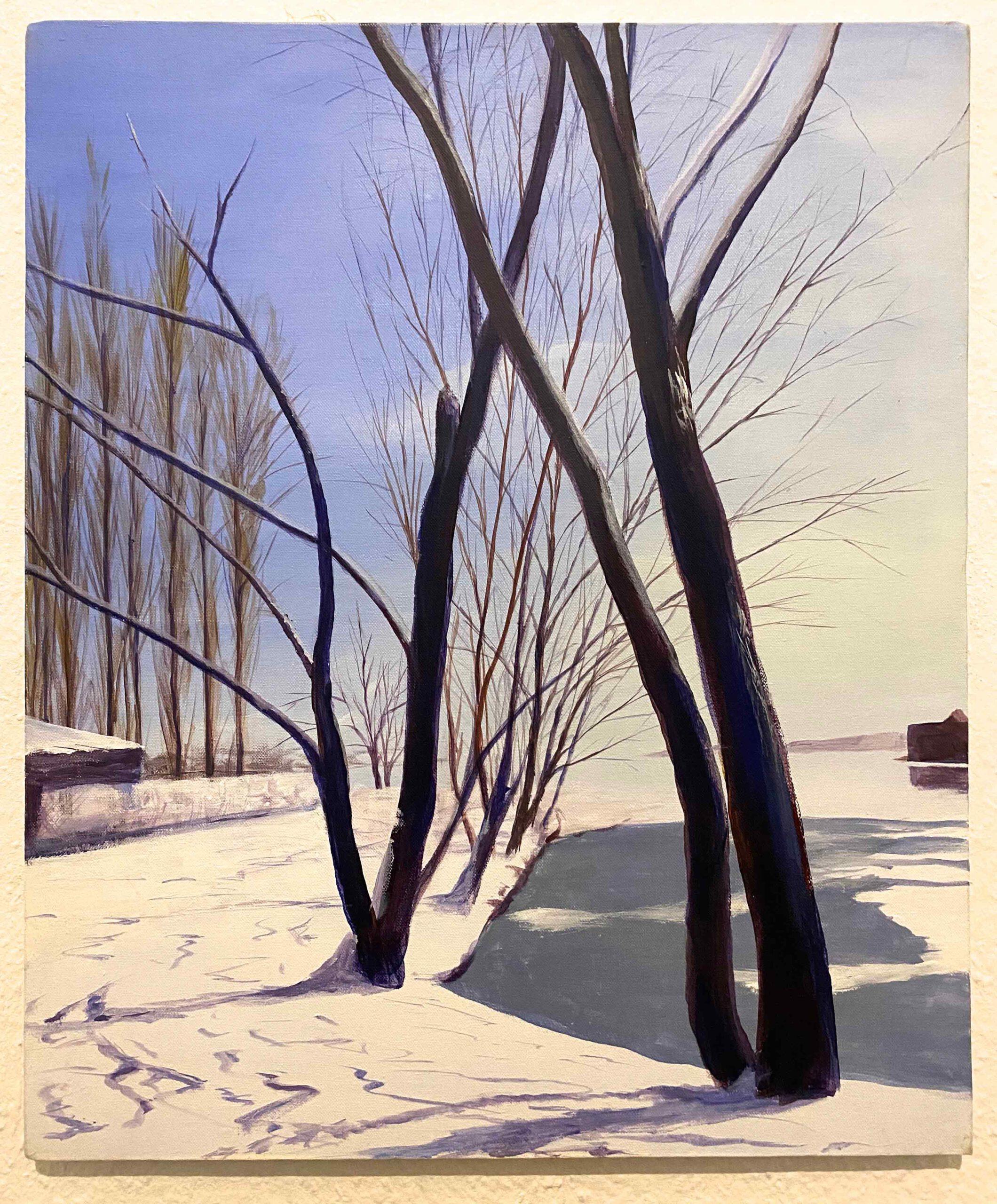 """""""Schnee und Eis, R. Bucht """" 60 x 50 cm, Acryl auf Leinwand, Felix Rieger 2015"""