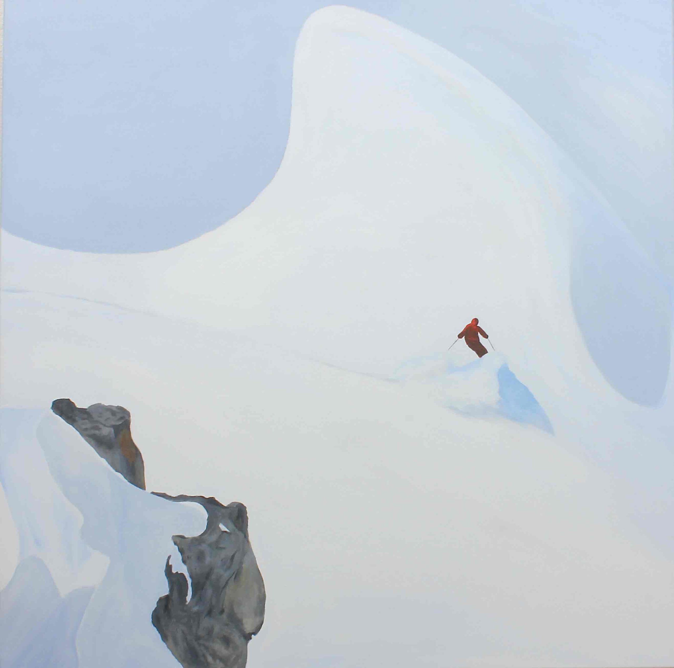 """Am Hang"" 95 x 95 cm, Acryl auf Leinwand, Felix Rieger 2018"
