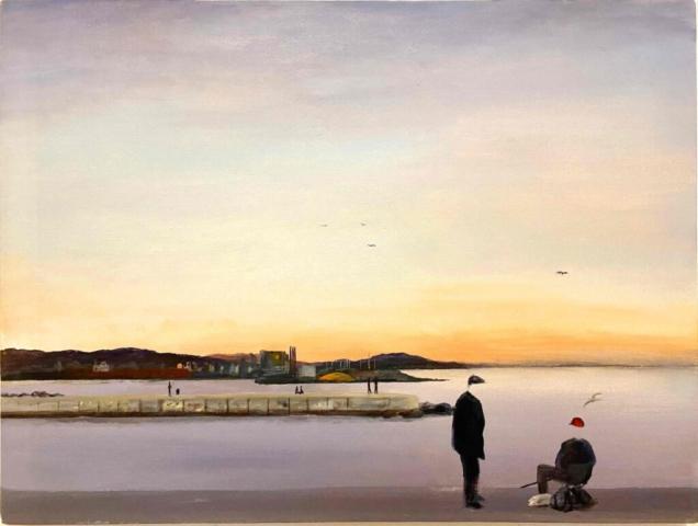 """""""Barcelona, Angler"""" 60 x 80 cm, Acryl auf Leinwand, Felix Rieger2017"""
