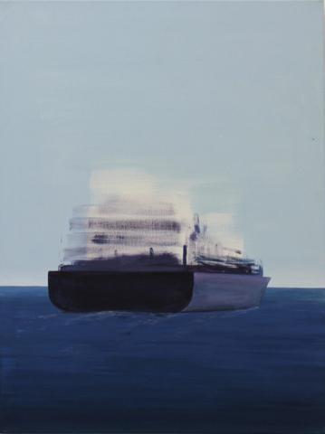 """Containerschiff"" 60 x 80 cm, Acrl & Öl auf Leinwand, Felix Rieger 2015"
