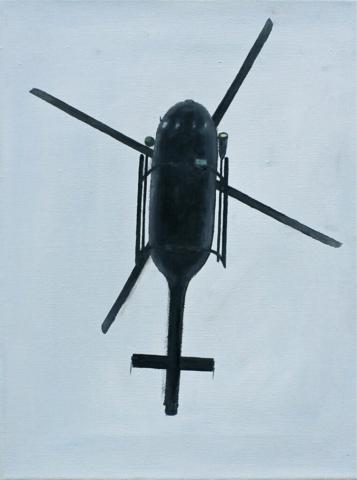 """Helicopter I"" 40 x 30cm, Öl auf Leinwand, Felix Rieger 2010"