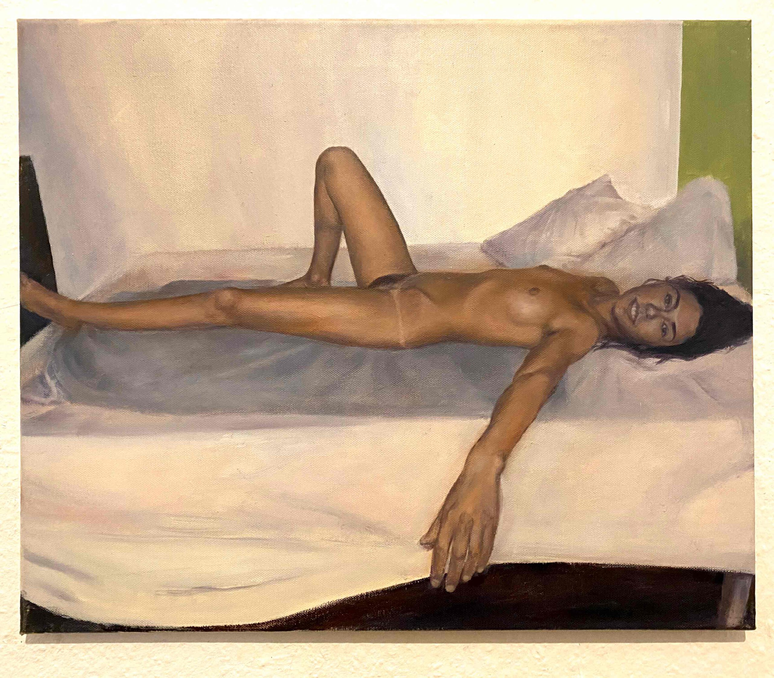 """Maria, BCN"" oil on canvas, 48 x 55 cm, Felix Rieger 2012"