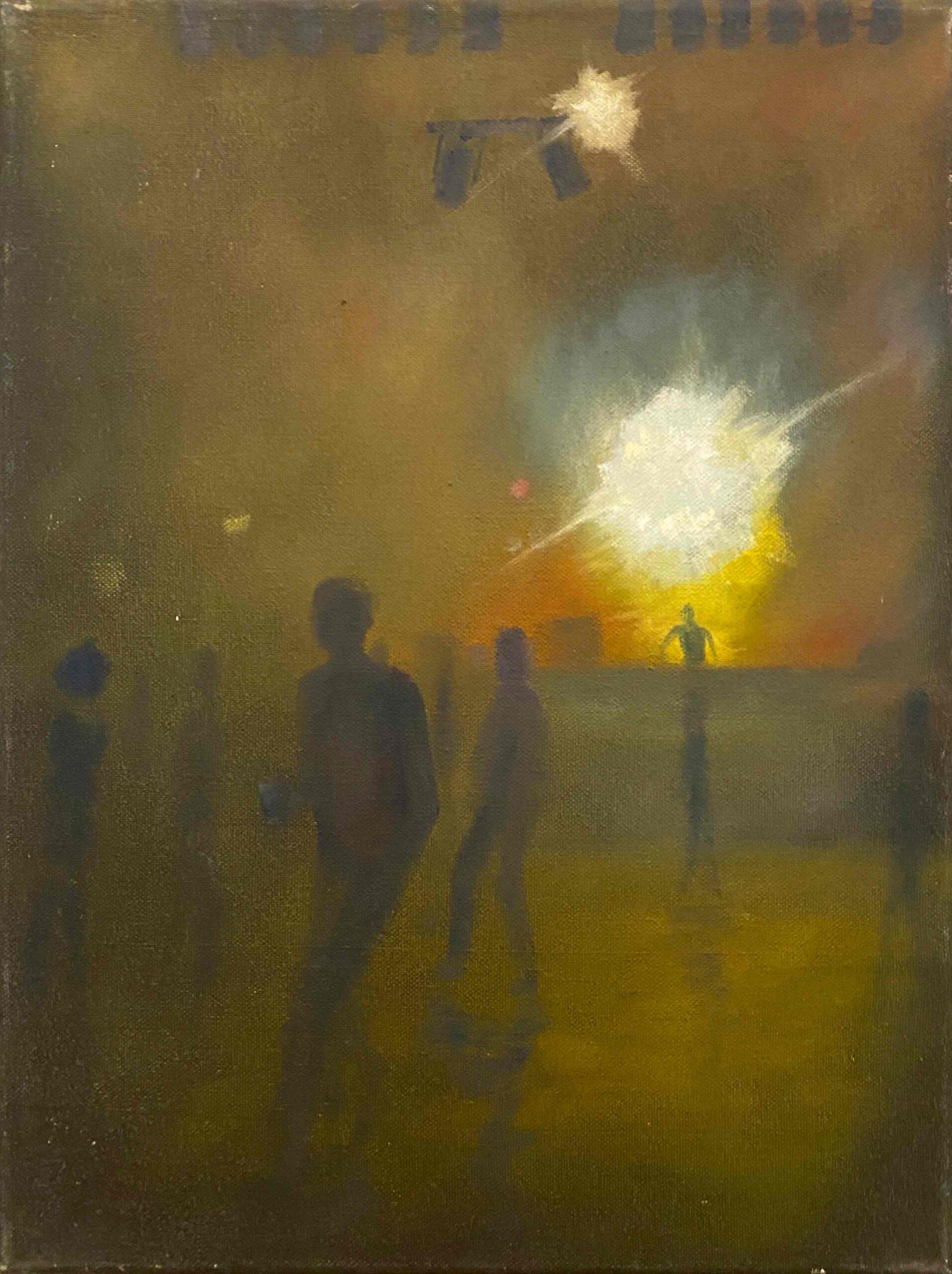 """Neonlights II, SO 36"" Öl auf Leinwand, 40 x 30 cm, Felix Rieger 2013"