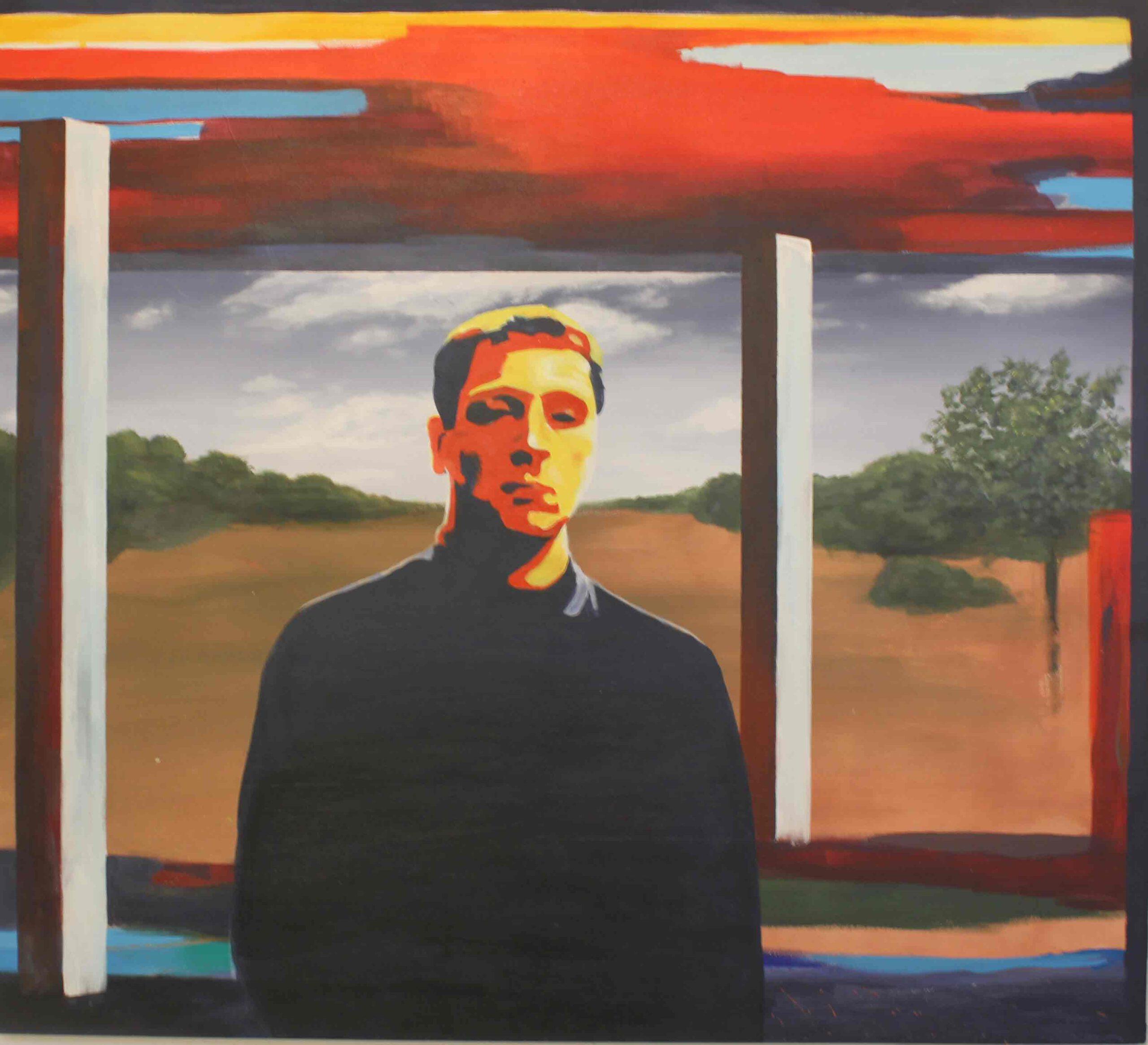 """""""O.T., Selbstportrait"""" 105 x 95 cm, Acryl auf Leinwand, Felix Rieger 2017"""
