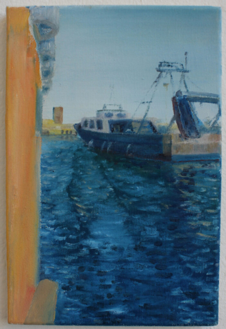 """Porto de BCN"" 30 x 20cm, Öl auf Leinwand, Felix Rieger 2013"