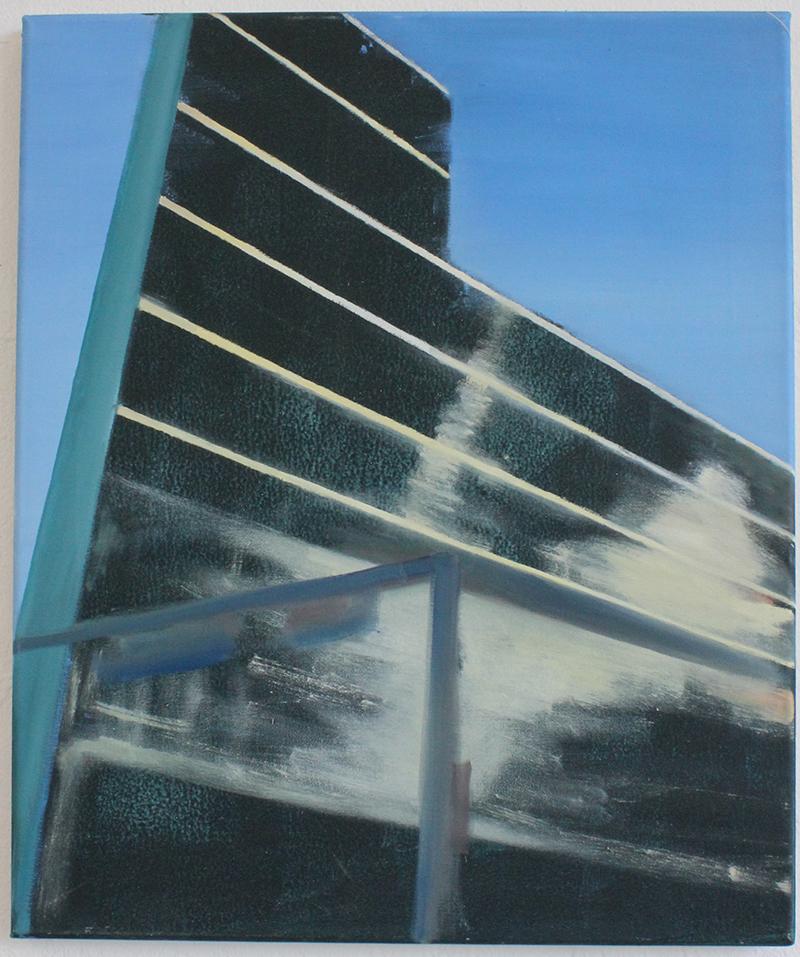 """""""Potsdamer Platz I"""" Öl auf Leinwand, 60 x 50 cm, Felix Rieger 2013"""