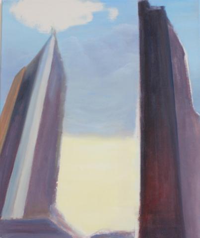 """""""Potsdamer Platz II"""" Öl auf Leinwand, 60 x 50 cm, Felix Rieger 2013"""