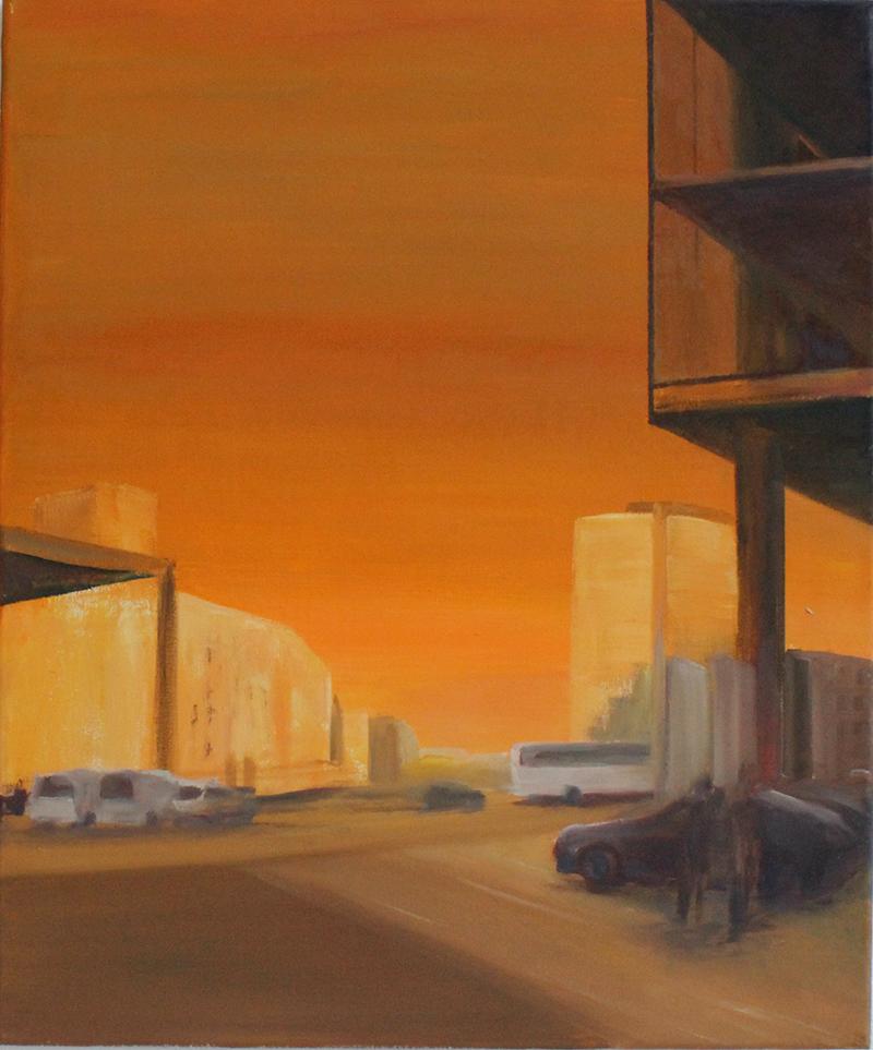 """""""Potsdamer Platz III"""" Öl auf Leinwand, 60 x 50 cm, Felix Rieger 2013"""