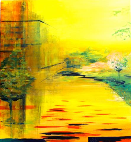 """Sommerlandschaft"" 120 x 110 cm, Acryl & Öl auf leinwand, Felix-Rieger 2014"