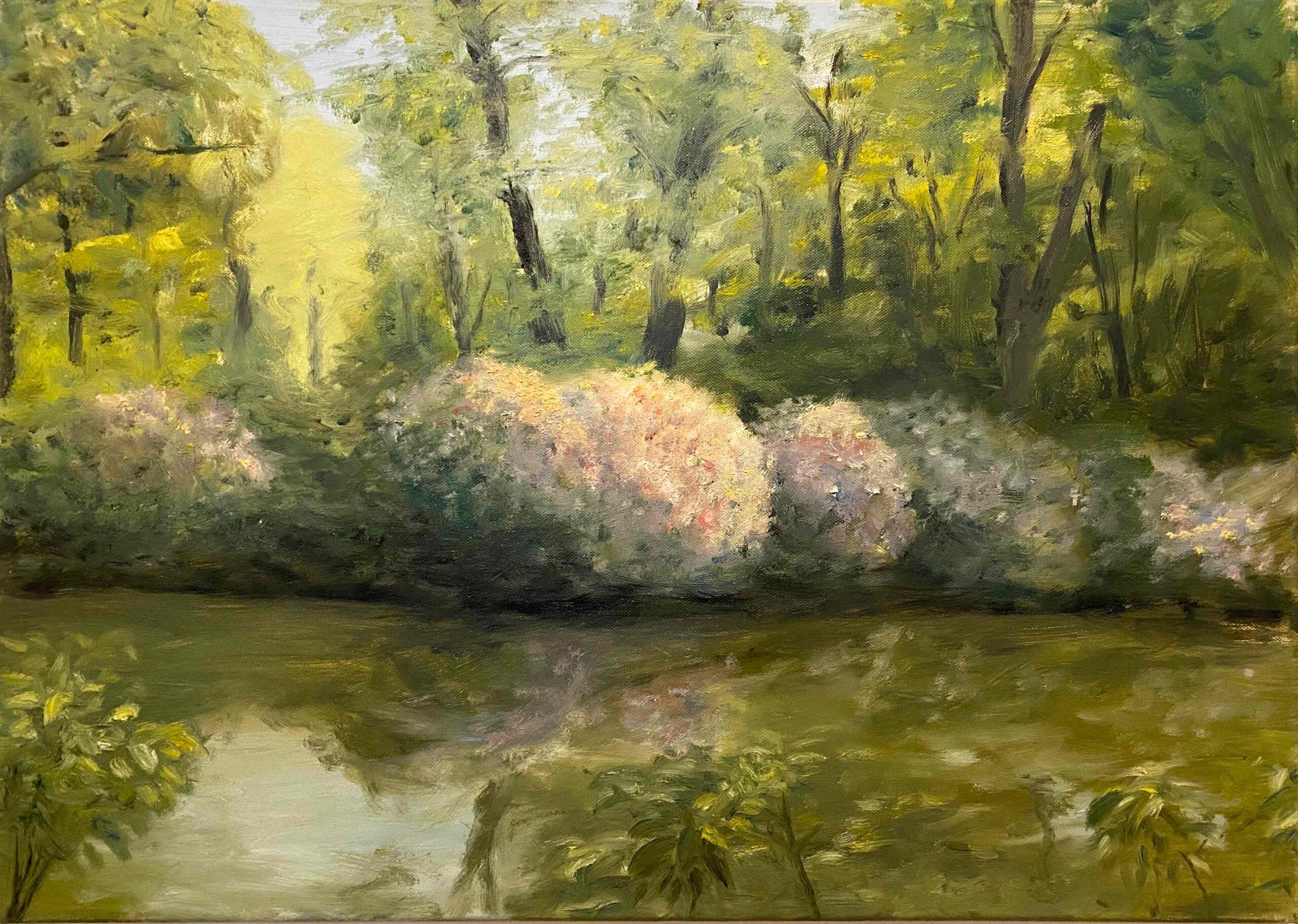 """""""Tiergarten""""  Öl auf Leinwand, 50 x 70 cm, Felix Rieger 2010"""
