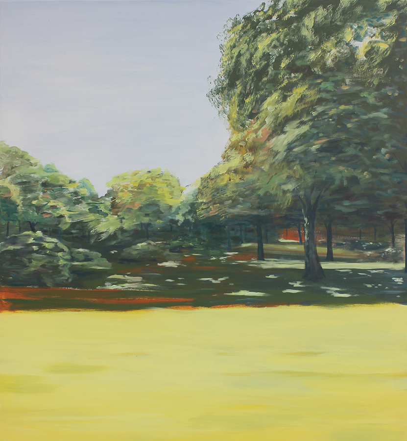 """Tiergarten V"" Acryl auf Leinwand, 120 x 110 cm, Felix Rieger 2015"