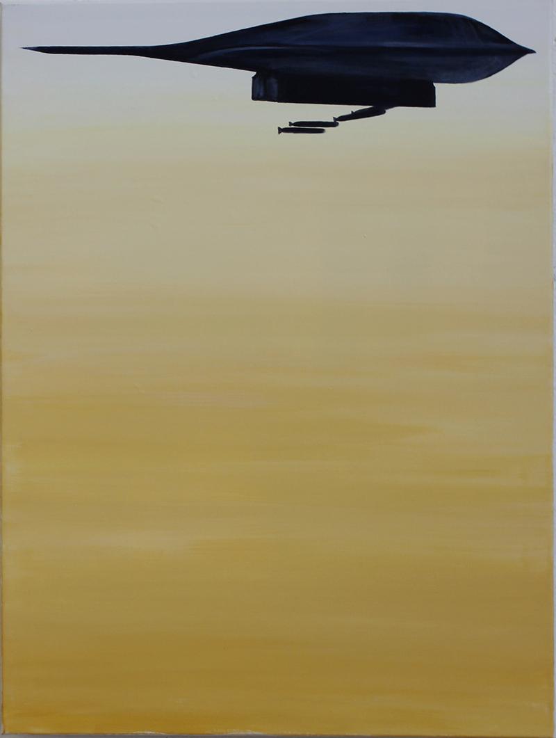 """""""Too Late"""" 80 x 60 cm, Acryl auf Leinwand, Felix Rieger 2015"""