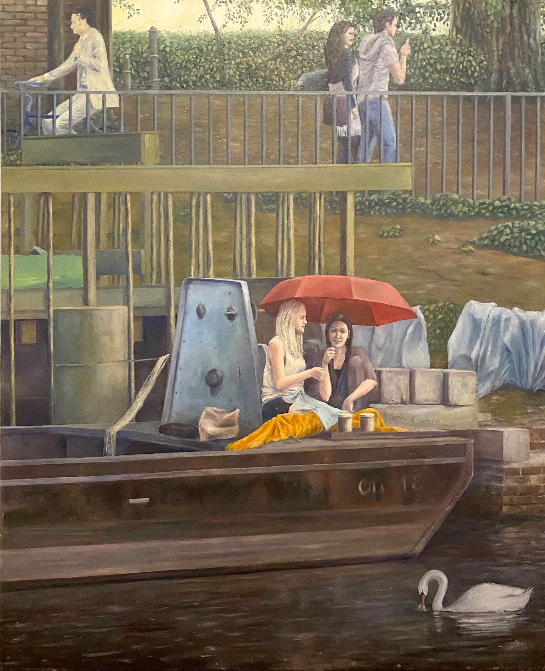 """""""Uferkonstellation Urbanhafen"""" 80 x 65 cm, Öl auf Leinwand, Felix Rieger 2011,12"""
