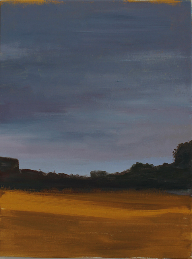 """Herbstlandschaft, O.T."" 60 x 50 cm, Öl und Acryl auf Leinwand, Felix Rieger 2015"